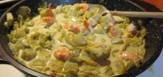 Poêlée de Crevettes aux endives