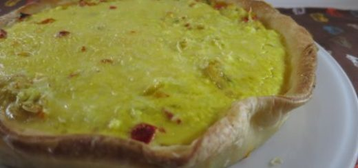 Quiche light jambon & poivrons