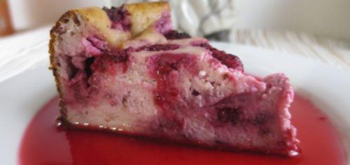 Gâteau au fromage et aux framboises
